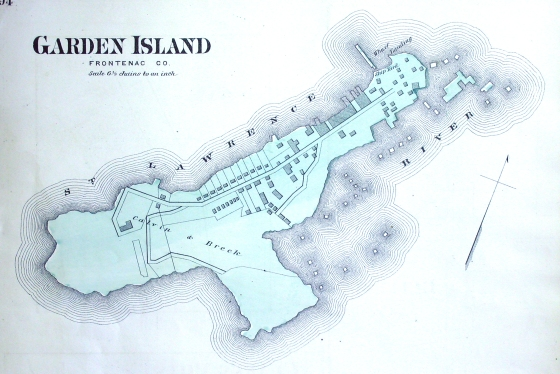 Through most of the 19th century Garden Island received timber from all of the Great Lakes for export to Europe.
